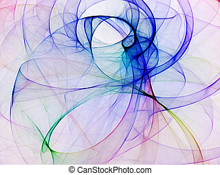 abstract fractal background - beautiful abstract fantasy...