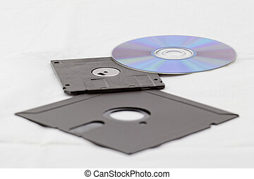 old fashion floppy an cd dvd - Old Fashion Floppy Disc and...