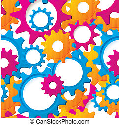 Cog wheels textured seamless vector - Vector illustration of...
