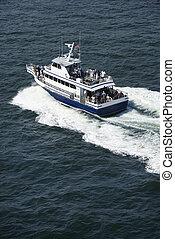 Ferry boat transport. - Ferry boat transport on Bald Head...