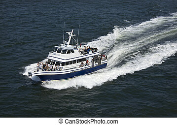 Ferry boat transport. - Ferry boat transport on Bald Head...