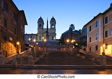 Spanish Steps - The Spanish Steps in rome at sunrise