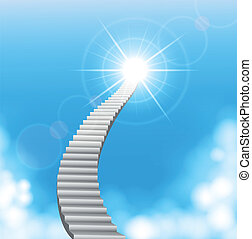 The stairway to heaven - Vector illustration of The stairway...