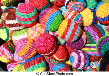 Handmade Balls - Handmade cloth balls or hackey sacks for...