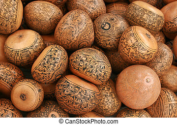 Etched Gourds - Pictures and designs etched into gourds for...