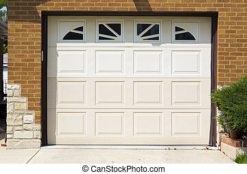 garage door - white american garage door