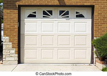 garage door - white american garage door