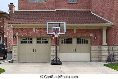 garage door - brown fiberglass garage doors