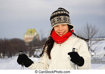 Skiing in Quebec City - Cross country skiing on the Plains...
