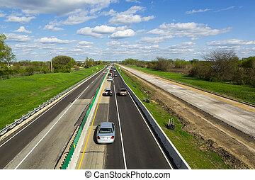highway construction rural landscape