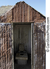 Outhouse/privy - Outhouse, rural new mexico