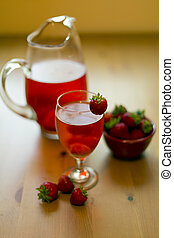 strawberry compote - chilled strawberry drink with fresh...