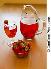 strawberry compote - chilled strawberry drink served in...