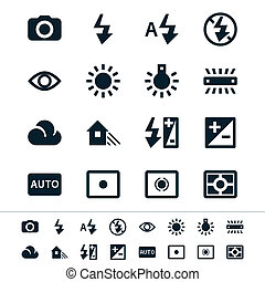 Photography icons - Simple vector icons. Clear and sharp....