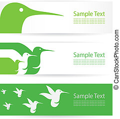 Vector image of an hummingbird banners .