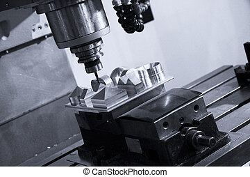 CNC milling ,Machine tool - CNC machine at work