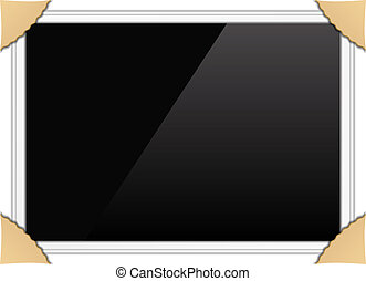 Horizontal photo frame, vector eps10 illustration