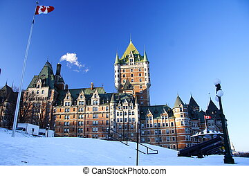 Chateau Frontenac - Quebec City most famous landmark,...