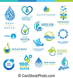 Set of water icons - Set of vector water icons