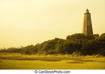 Lighthouse - Lighthouse on Bald Head Island, North Carolina...