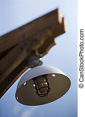 Exterior light with cover.