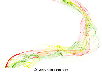 abstract colorful smoke waves