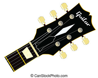 Guitar Headstock - A traditional guitar headstock with...
