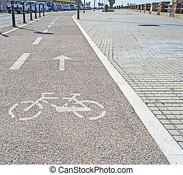 cycle lane - bicycle lane in the city