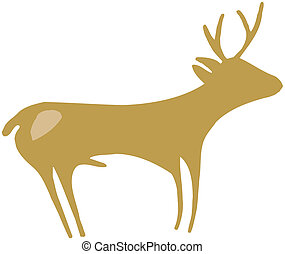 Isolated deer - vector illustration