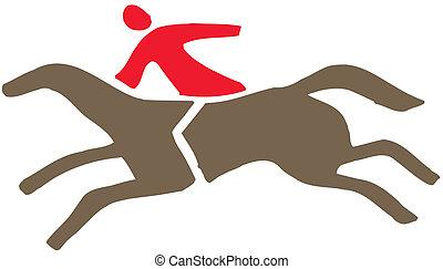 koń, jeździec