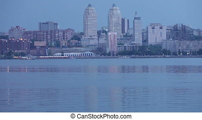 Evening Dnieper - View of the Dnepropetrovsk from the left...
