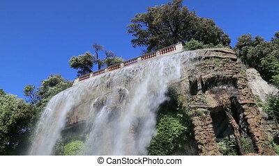 Nice France waterfall on hill top v - DSLR Full HD...