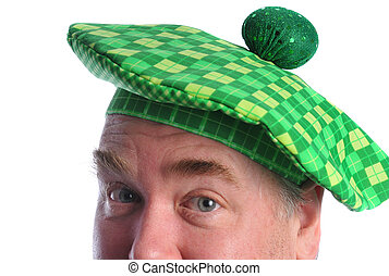 Happy St Patricks day - man in a st patrick day hat