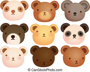 Collection of Cute Bear - Vector File EPS10