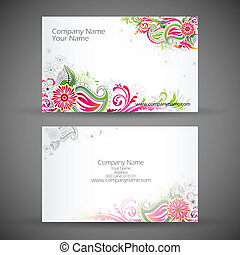 Corporate Business Card - illustration of front and back of...
