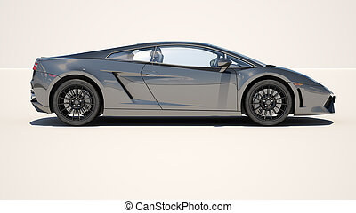 Supercar on a light background - Sport supercar on a light...