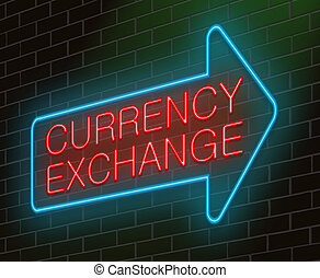 Currency exchange concept - Illustration depicting an...