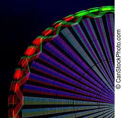 ferris wheel - detail of a ferris wheel lights