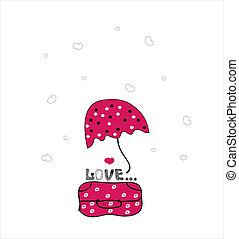 love and travel vector