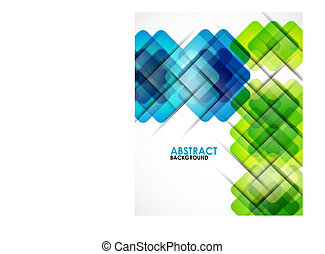 Geometrical squares modern template