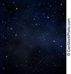 starry night sky  -  starry background