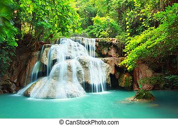 Huay mae kamin waterfall in Kanchanaburi, Thailand