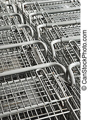 Shopping carts.