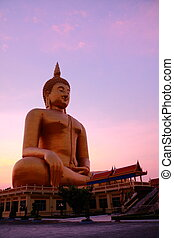 Wat muang - Wat Muang Monestary in Ang Thong province, Great...