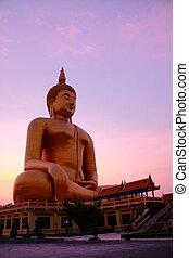 Wat muang - Wat Muang Monestary in Ang Thong province, Great...