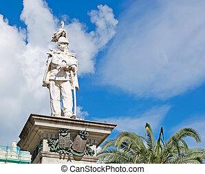 Vittorio Emanuele II statue in Piazza d'Italia, Sassari