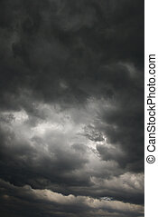 Dark storm clouds - Ominous abstract storm clouds