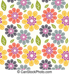 Floral pattern - Seamless multicolored floral pattern