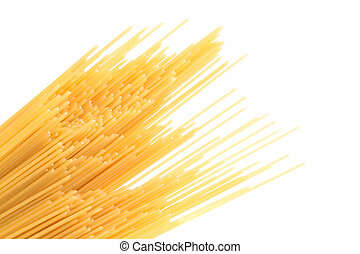 Spaghetti bias on the white background Close-up Frame