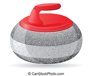 stone for curling sport game vector illustration isolated on...